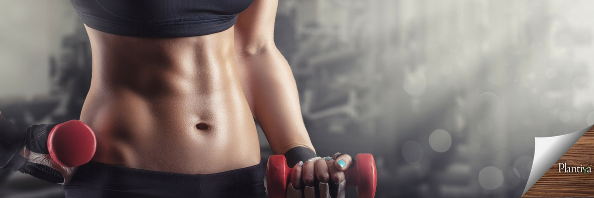 woman's midsection working out at gym